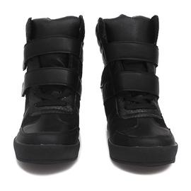 Sneakersy Na Koturnie LB239 Czarny czarne 3