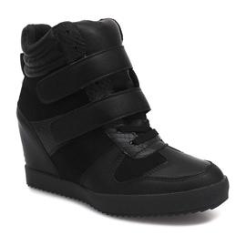 Sneakersy Na Koturnie LB239 Czarny czarne 5