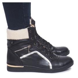 Ocieplane Sneakersy RY93022-1 Czarny czarne 1
