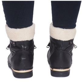 Ocieplane Sneakersy RY93022-1 Czarny czarne 2