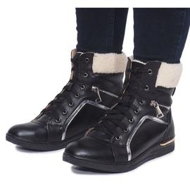 Ocieplane Sneakersy RY93022-1 Czarny czarne 3