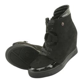 Sergio Leone Botki Sneakersy Z Kokardą Na Suwak czarne 5