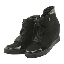 Sergio Leone Botki Sneakersy Z Kokardą Na Suwak czarne 3
