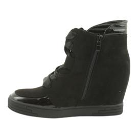 Sergio Leone Botki Sneakersy Z Kokardą Na Suwak czarne 2