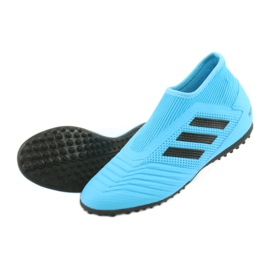 Buty piłkarskie adidas Predator 19.3 Ll Tf Jr EF9041 niebieskie 4