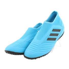 Buty piłkarskie adidas Predator 19.3 Ll Tf Jr EF9041 niebieskie 2