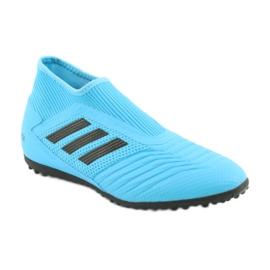 Buty piłkarskie adidas Predator 19.3 Ll Tf Jr EF9041 niebieskie 1