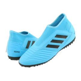 Buty piłkarskie adidas Predator 19.3 Ll Tf Jr EF9041 niebieskie 3