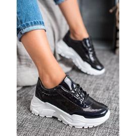 Marquiz Buty Sportowe Z Cekinami czarne 1