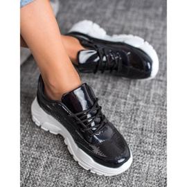 Marquiz Buty Sportowe Z Cekinami czarne 2