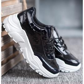 Marquiz Buty Sportowe Z Cekinami czarne 4