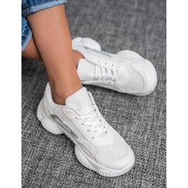 SHELOVET Tekstylne Buty Sportowe białe 1