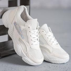 SHELOVET Tekstylne Buty Sportowe białe 2
