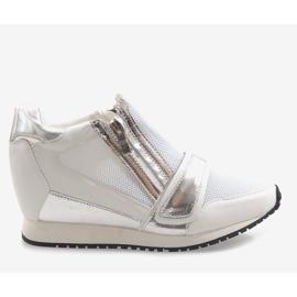 Modne Proste Sneakersy SK48 Biały białe 2