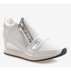 Modne Proste Sneakersy SK48 Biały białe 1