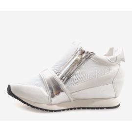 Modne Proste Sneakersy SK48 Biały białe 3