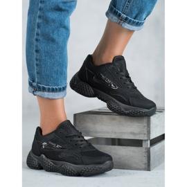 SHELOVET Tekstylne Buty Sportowe czarne 1