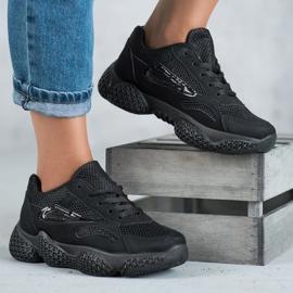 SHELOVET Tekstylne Buty Sportowe czarne 5