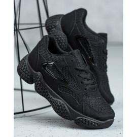 SHELOVET Tekstylne Buty Sportowe czarne 3