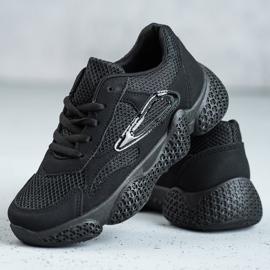 SHELOVET Tekstylne Buty Sportowe czarne 2