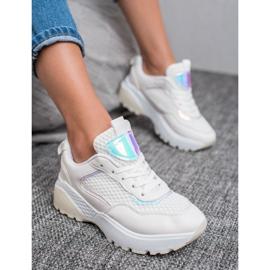 SHELOVET Wygodne Buty Sportowe białe 3
