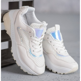 SHELOVET Wygodne Buty Sportowe białe 1