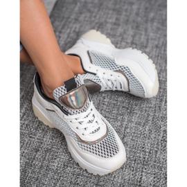 SHELOVET Wygodne Buty Sportowe białe 4