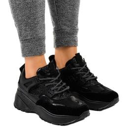 Czarne modne damskie obuwie sportowe C2 1