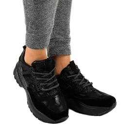 Czarne modne damskie obuwie sportowe C2 2