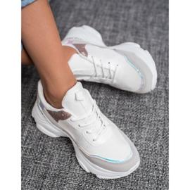 SHELOVET Modne Buty Sportowe białe 4
