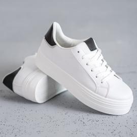 SHELOVET Modne Buty Sportowe białe 2