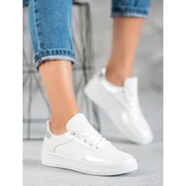 Jumex Wiązane Buty Sportowe białe 4