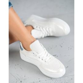 Jumex Wiązane Buty Sportowe białe 5