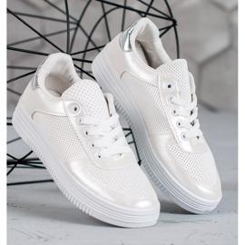Jumex Wiązane Buty Sportowe białe 1
