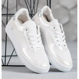 Jumex Wiązane Buty Sportowe białe 2