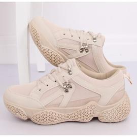 Buty sportowe beżowe BD-5 Beige beżowy 2