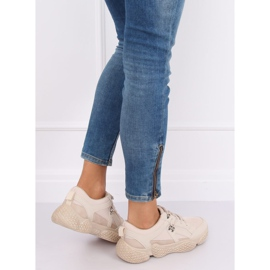Buty sportowe beżowe BD-5 Beige beżowy 3