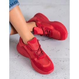SHELOVET Czerwone Buty Sportowe 3
