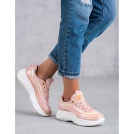 SHELOVET Jasnoróżowe Sneakersy 5