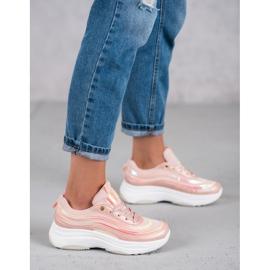 SHELOVET Jasnoróżowe Sneakersy 1