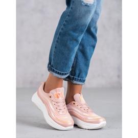 SHELOVET Jasnoróżowe Sneakersy 6
