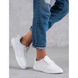 SHELOVET Tekstylne Obuwie Sportowe białe 2