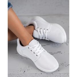 SHELOVET Tekstylne Obuwie Sportowe białe 1