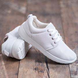 SHELOVET Tekstylne Obuwie Sportowe białe 5