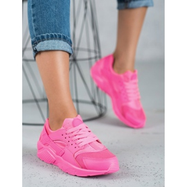 SHELOVET Różowe Buty Sportowe 3