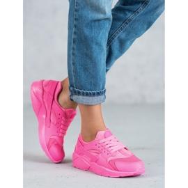 SHELOVET Różowe Buty Sportowe 2