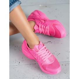SHELOVET Różowe Buty Sportowe 4