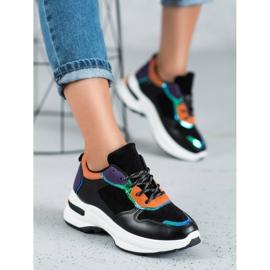 SHELOVET Casualowe Sneakersy czarne 1