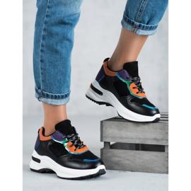 SHELOVET Casualowe Sneakersy czarne 3