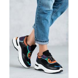 SHELOVET Casualowe Sneakersy czarne 2